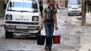 """""""معارضون"""" يقطعون الماء عن #حلب"""