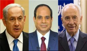 #بيريز و #نتنياهو يهنآن #السيسي برئاسة #مصر