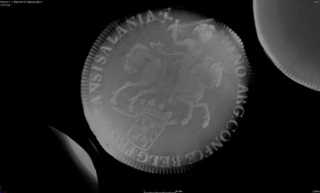 CT scan of a coin from the Rooswijk