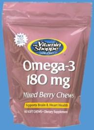 Vitamin Shoppe Chews Omega-3 pouch