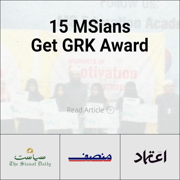 Urdu News 15 MSians Get GRK AWARD
