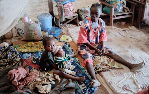 Nadege flygtede til Benzvi-lejren med sine børn, da volden brød ud i Den Centralafrikanske Republik i december 2013.