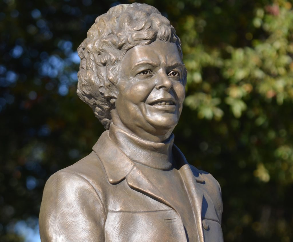The Margaret Wade Statue set for dedication Friday.