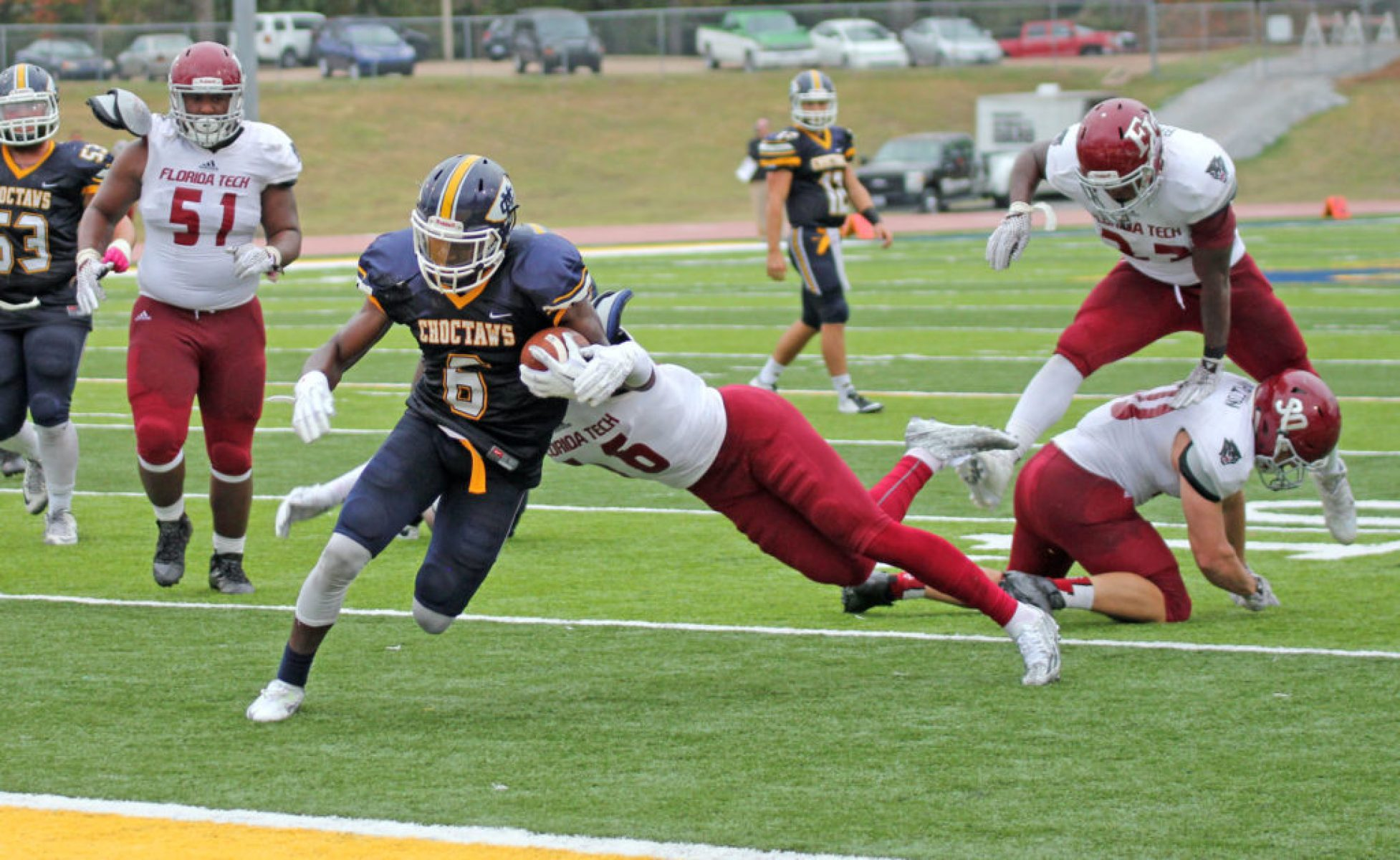 Marcel Newson, C Spire Conerly Trophy finalist, scores for the Choctaws.