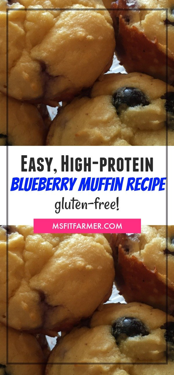 The Best High-Protein Blueberry Breakfast Muffin Recipe Ever! | Easy-to-make, Gluten-free, and Macro-friendly! | Find more great recipes at https://msfitfarmer.com