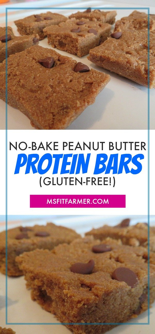 Gluten-Free Protein Bar Recipe | No-Bake Peanut Butter Protein Bar Recipe | Healthy, Simple & Easy Protein Bars | More at https://msfitfarmer.com