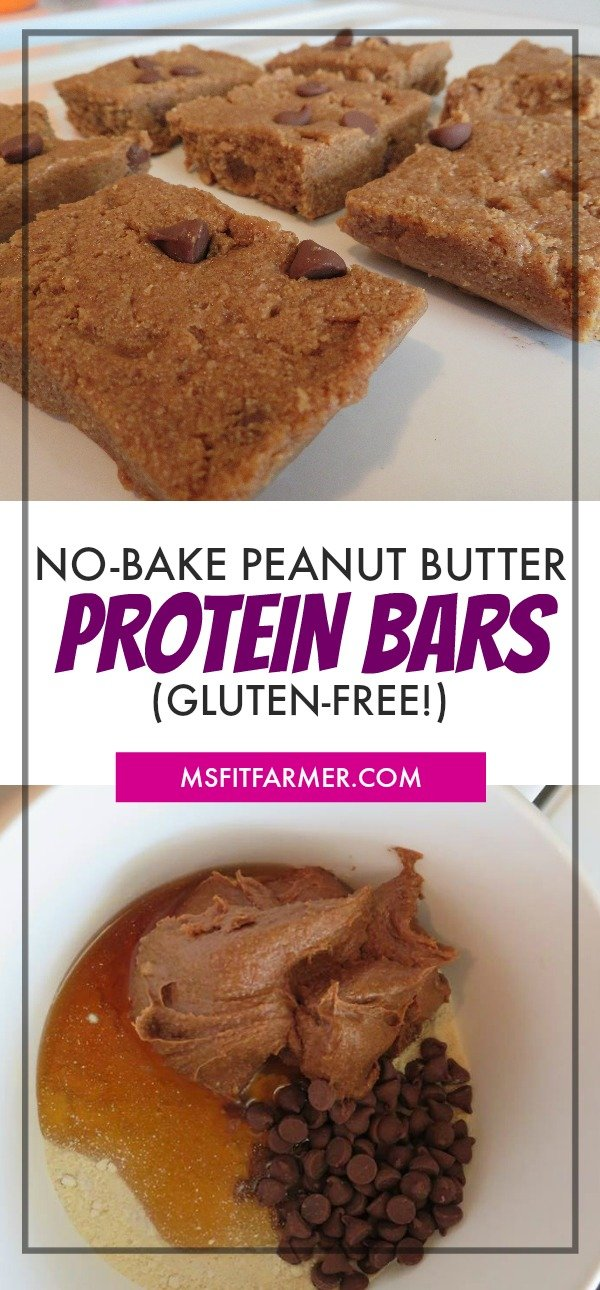 Gluten-Free Protein Bar Recipe | No-Bake Peanut Butter Protein Bar Recipe | Healthy, Simple & Easy Protein Bars | More at https://msfitfarmer.com