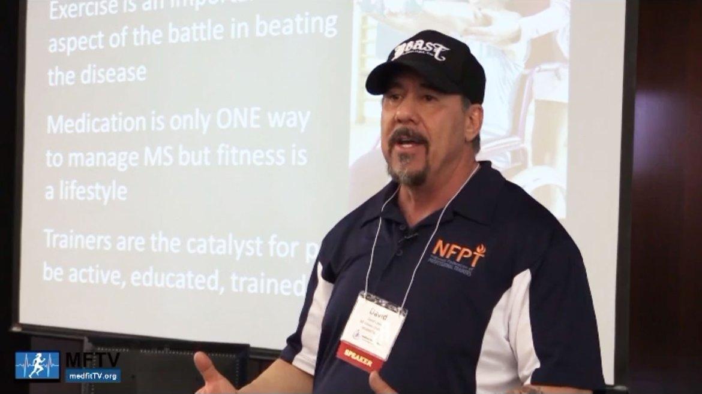 David Lyons at a MedFitTV talk