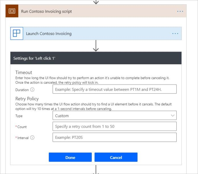 User can configure retry and timeout policy from portal