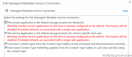 Managed Service Connection Errors