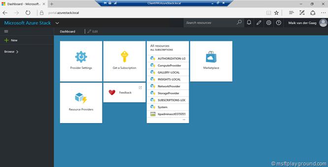 Azure Stack Portal