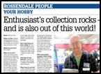 Profile article in local newspaper