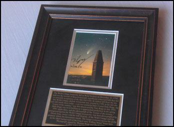 Comet Hale Bopp & Wold Cottage monument