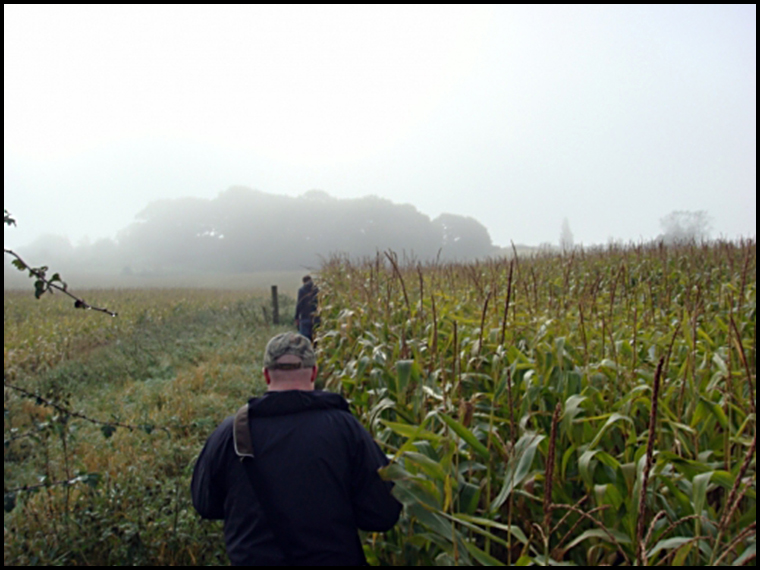 Setting off on the little used footpath towards the fall location (Photo courtesy of Luther Jackson)
