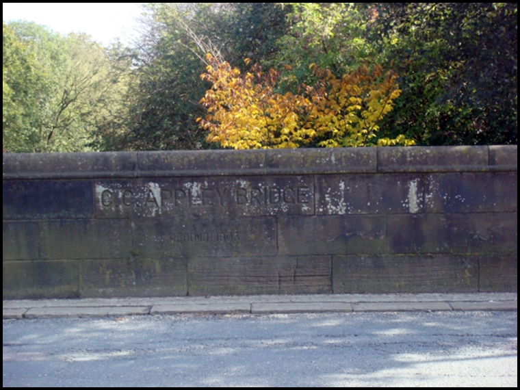 The bridge the town is named after at the start of our walk (Photo courtesy of Luther Jackson)