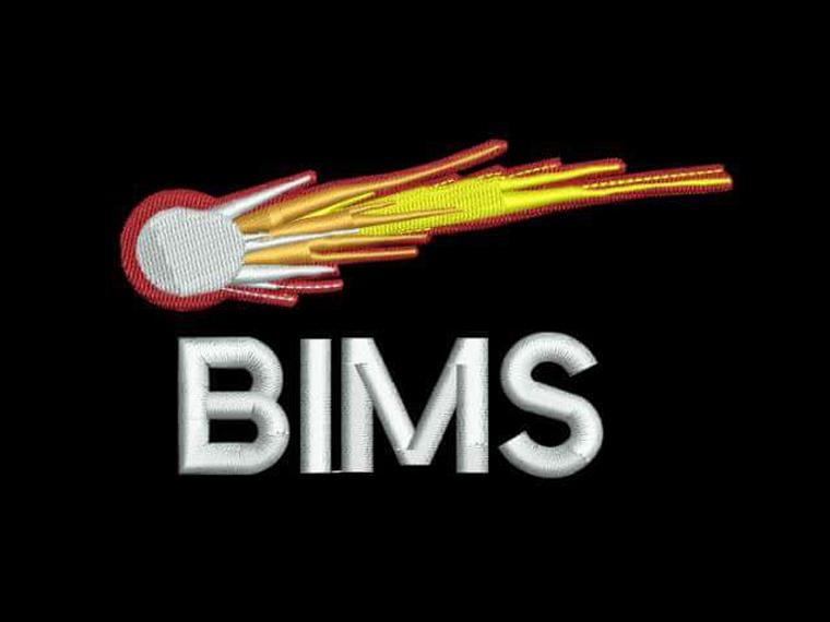 Our new BIMS fireball logo sewn onto our Polo shirts.