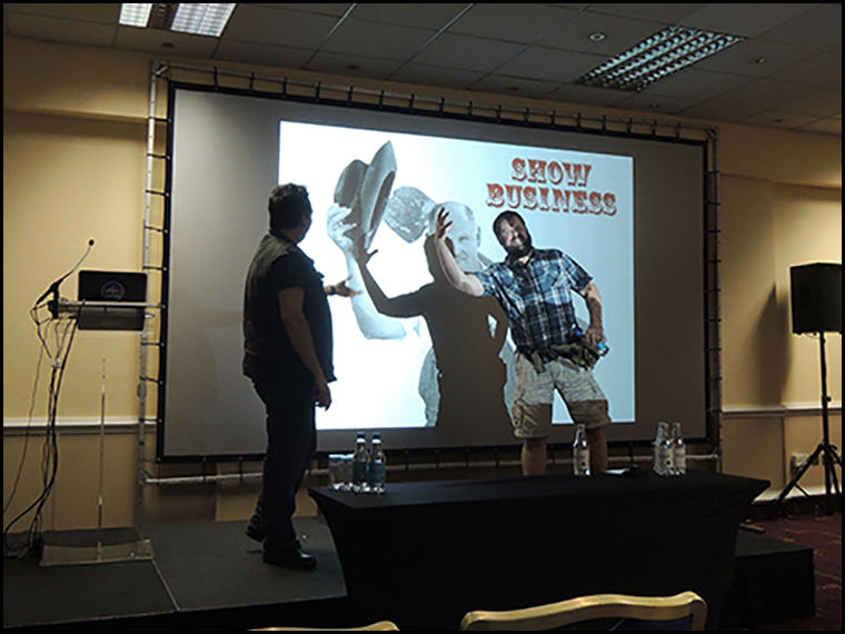 Geoff and Steve doing their thing on stage :-)