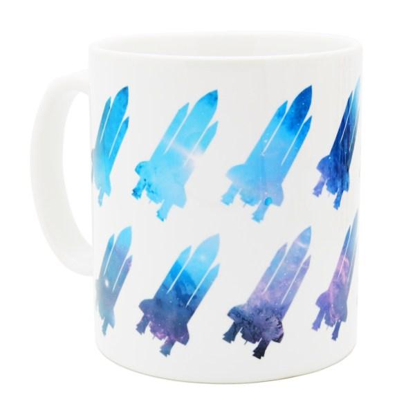 Space shuttle mug blue