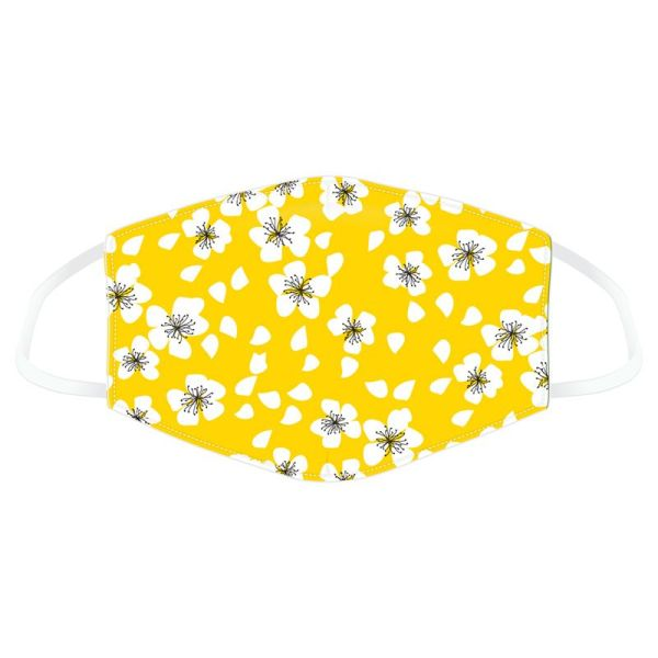 Mask yellow floral 1