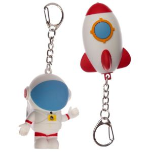 Space cadet rocket astronaut keyring 1