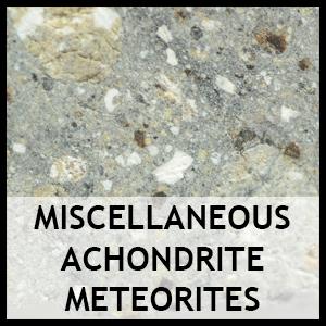 Miscellaneous achondrite meteorites