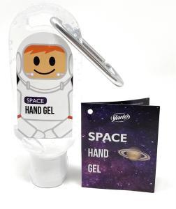 Space astronaut hand gel