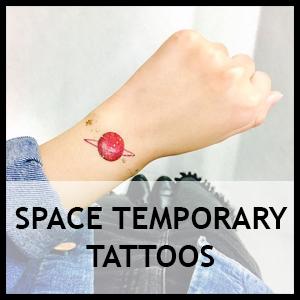 Space Temporary Tattoos