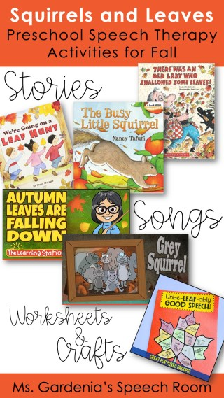 Preschool speech therapy activities for fall