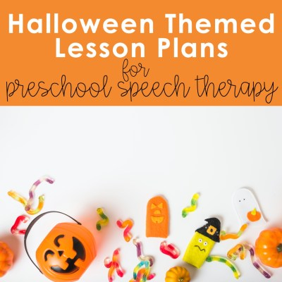 lesson plans preschool speech therapy