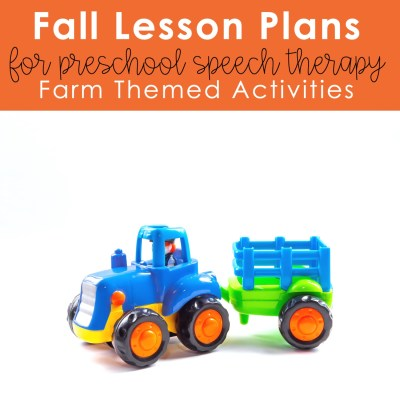 preschool activities for speech therapy farm theme