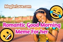 good morning meme for her