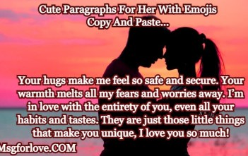 Cute Paragraphs For Her