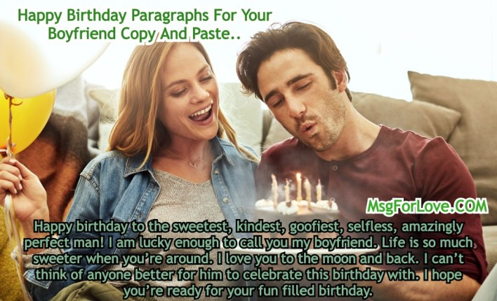 Birthday Paragraphs For Your Boyfriend