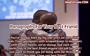 Paragraphs For Your friend