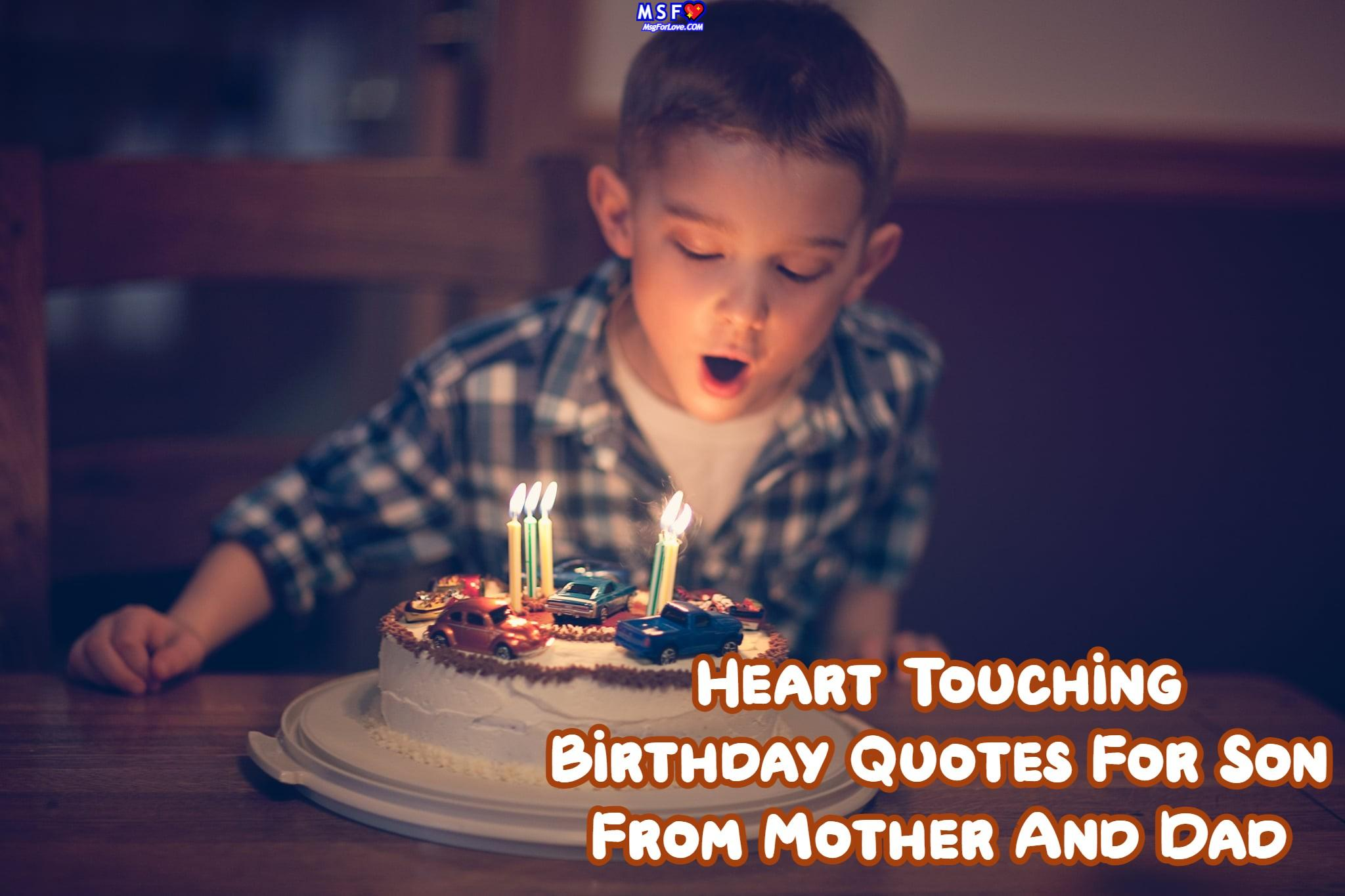 Heart Touching Birthday Quotes For Son