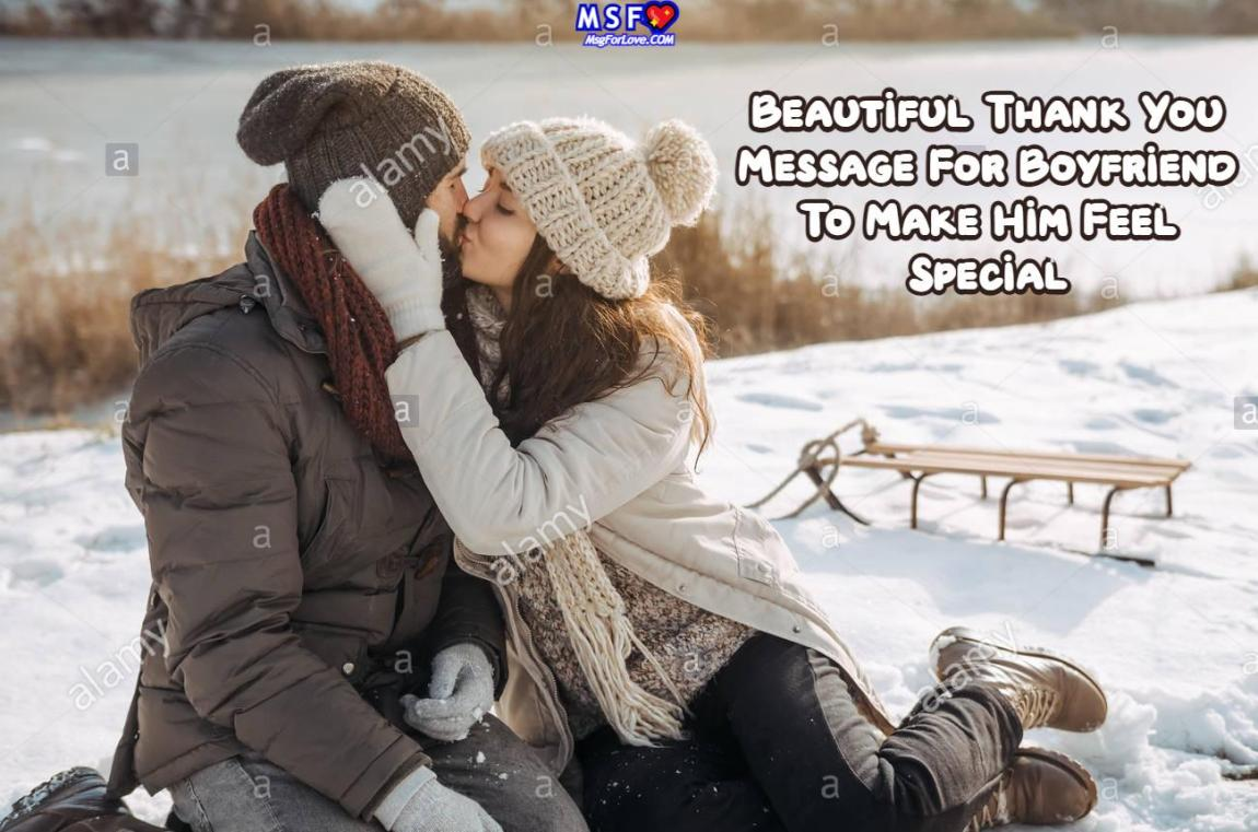 Thank You Message For Boyfriend
