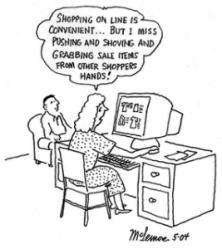 shopping friday cartoon humor brick holiday funny sales mortar retail internet humour cartoons jokes monday end cyber comic memes november