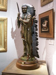 Cheyenne Splendor - Kliewer Bronze Western Native American Sculpture at Mountain Spirit Gallery in Prescott, Arizona