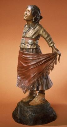 Squash Blossom - Kliewer Navajo Bronze Sculpture at Mountain Spirit Gallery in Prescott, Arizona