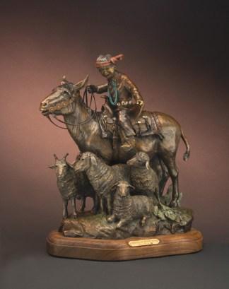 Gridlock at Window Rock - Kliewer Burro & Sheep Native American Bronzes at Mountain Spirit Gallery in Prescott, Arizona