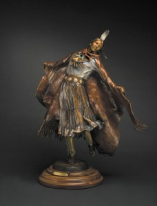 Navajo Pow Wow Dancer - Kliewer Bronze Navajo Pow Wow Dancers at Mountain Spirit Gallery in Prescott, Arizona