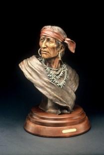 Keeper of the Eagle - Kliewer Navajo Bronze Sculpture by Susan Kliewer at Mountain Spirit Gallery in Prescott, Arizona