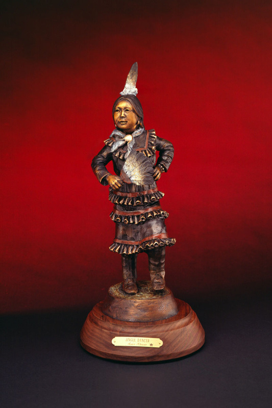Jingle Dancer - Kliewer Native American Pow Wow Bronze Sculpture at Mountain Spirit Gallery in Prescott, Arizona