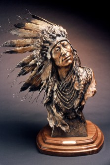 Spirit Wind - Kliewer Woman Western Art Bronze Sculpture at Mountain Spirit Gallery in Prescott, Arizona
