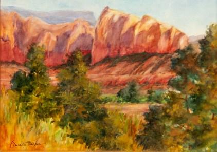 Sail Rock, Sedona Watercolor 9X12 $450.00