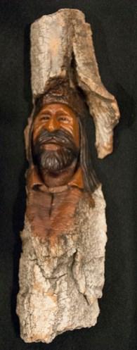 "Happy Jack - Wood Carving 3""X12"" $350.00"