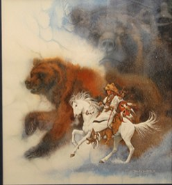 Two Bears of the Blackfeet Bev Doolittle Lithograph Framed $975.00 SALE $475.00