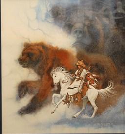 Two Bears of the Blackfeet Bev Doolittle Lithograph Framed $975.00