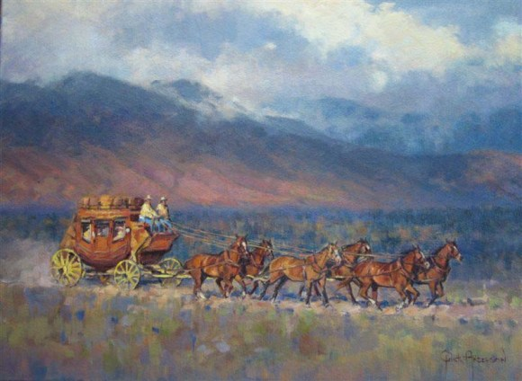 Wasatch Stage Oil 18 X 24 $2800.00