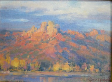 Fall on the Verde - Oil 9X12 $500.00